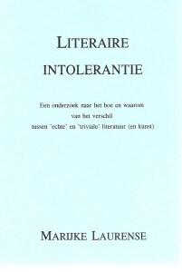Kaft Literaire intolerantie