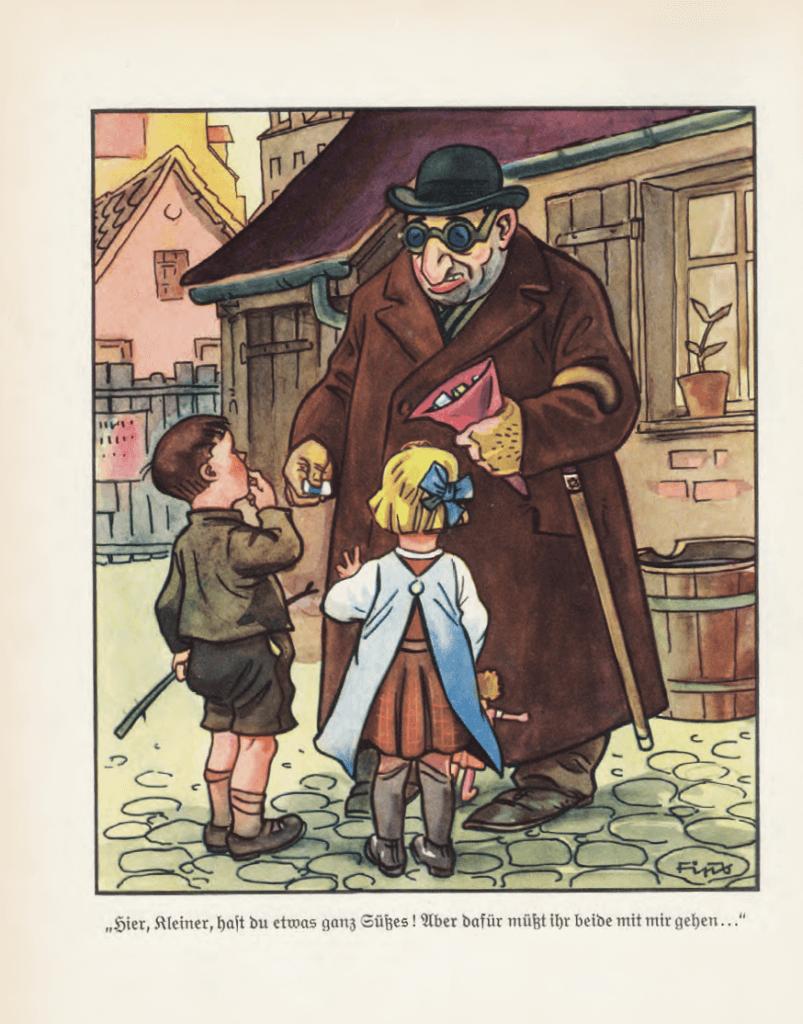 Antisemitische illustratie uit 'Der Giftpilz' (1938)