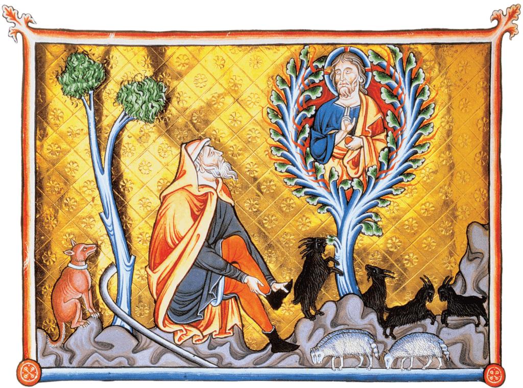 Mozes en de brandende braamstruik